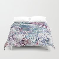 portland Duvet Covers featuring Portland map by MapMapMaps.Watercolors