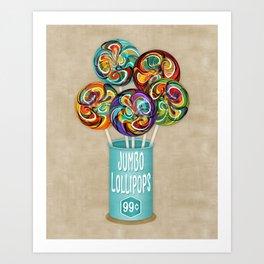 Colorful Kaleidoscope Lollipops Art Print