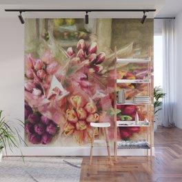 Spoken Without Sound - Flower Art Wall Mural