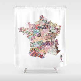 France map Shower Curtain