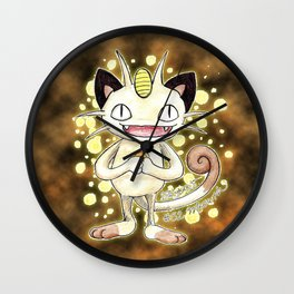 52 - Meowth Wall Clock