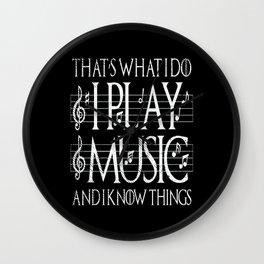 Music Lover Musical Notes Gift Motif Wall Clock