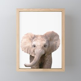 Cute Baby Elephant Framed Mini Art Print