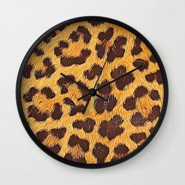 Its a leopard pattern Wall Clock