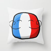 france Throw Pillows featuring France by Thomas Official