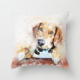 Dog Unhappy Animal Throw Pillow