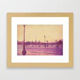 Paris, Glad to See You Again. Framed Art Print