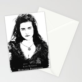 Katie McGrath - Morgana Pendragon Black and White Stationery Cards
