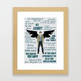 Castiel Framed Art Print