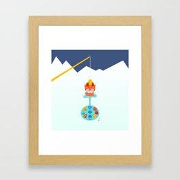Retro pond Framed Art Print
