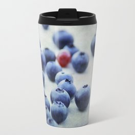 Blue berries with one red currant Travel Mug