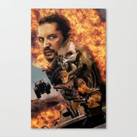 mad max Canvas Prints featuring Mad Max by SB Art Productions