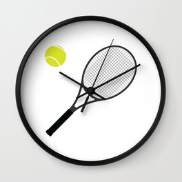 Tennis Racket And Ball 1 Wall Clock