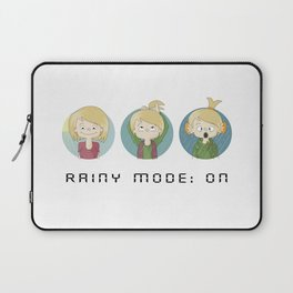 Ay, Olivia Rainy Mode Laptop Sleeve