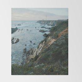 Point Arena Lighthouse Throw Blanket