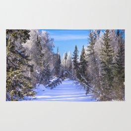 Frozen river Rug