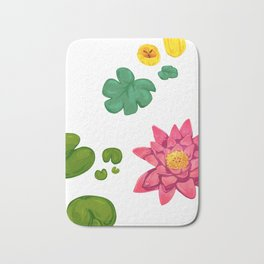 Lily pads and lilies Bath Mat
