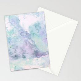 Pastel modern purple lavender hand painted watercolor wash Stationery Cards