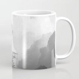 Faith is a Black and White Bird Square Artwork Coffee Mug