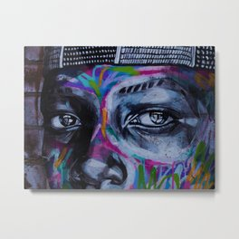 Graffiti Eyes Metal Print
