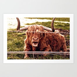 Greetings from the Highlands Art Print