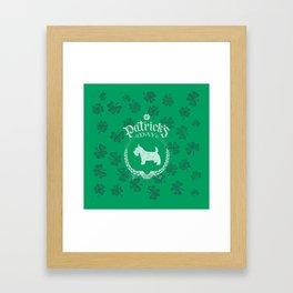 St. Patrick's Day Scottish Terrier Funny Gifts for Dog Lovers Framed Art Print