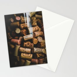 A collection of Wine Corks Photo Stationery Cards