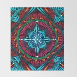Compass Mandala Throw Blanket