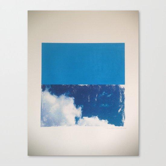 SKY/BLU Canvas Print