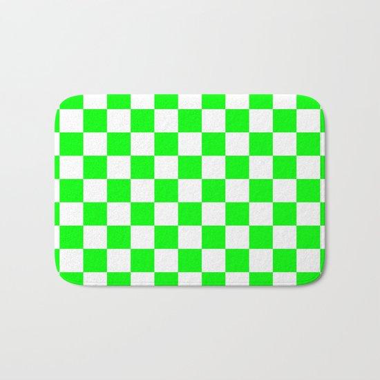 Checker (Green/White) Bath Mat