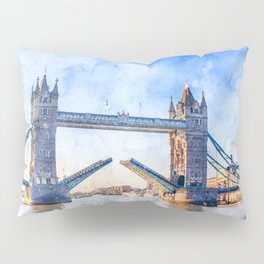 london-tower-bridge-bridge-england Pillow Sham