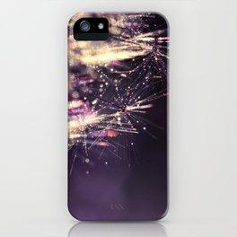 dandelion purple III iPhone Case