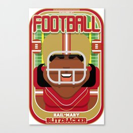 American Football Red and Gold - Hail-Mary Blitzsacker - Aretha version Canvas Print