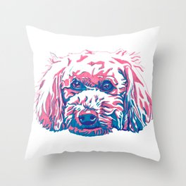 Bichpoo Throw Pillow
