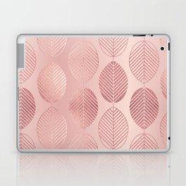 Rose Gold Leaf Pattern Laptop & iPad Skin