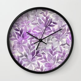 watercolor Botanical garden III Wall Clock