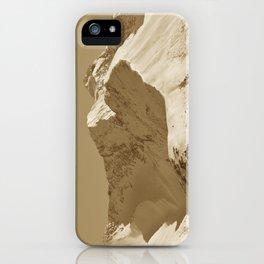 Majestic Mountain - Sepia iPhone Case