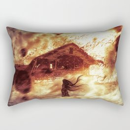 And Now... Kiss The Burning Darkness Rectangular Pillow