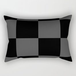 Black 2 Tone Pattern Rectangular Pillow