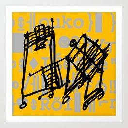 Symbols, A digital symbology composition Art Print