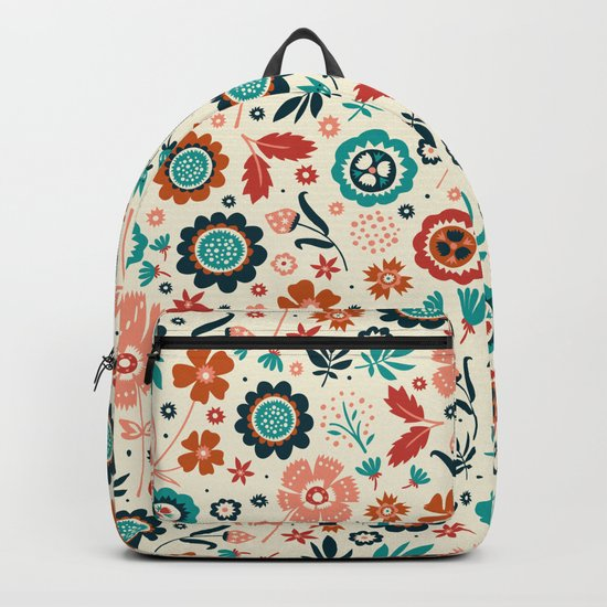 Folk Flowers Backpack