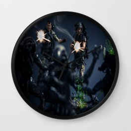 """SURROUNDED"" Wall Clock"