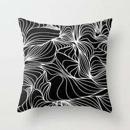 Curves ~ Black and White Throw Pillow