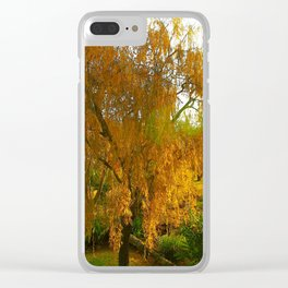 Our Golden Willow Clear iPhone Case
