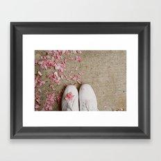 Truckstop Flower Framed Art Print