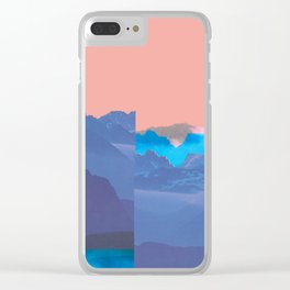 Mountain Mix 17.1 Clear iPhone Case