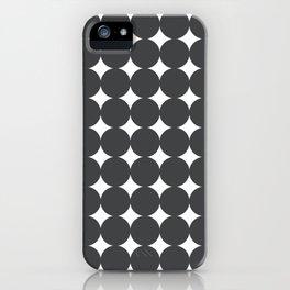 Midcentury Circles and Diamonds 13 iPhone Case