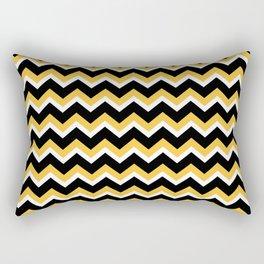 Yellow Black Chevron Rectangular Pillow