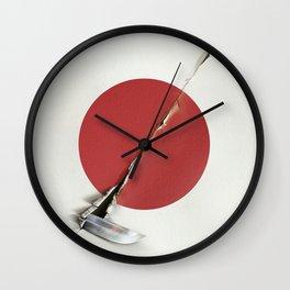 The slash of the sword Wall Clock