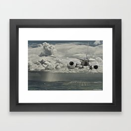 Stormy approach Framed Art Print